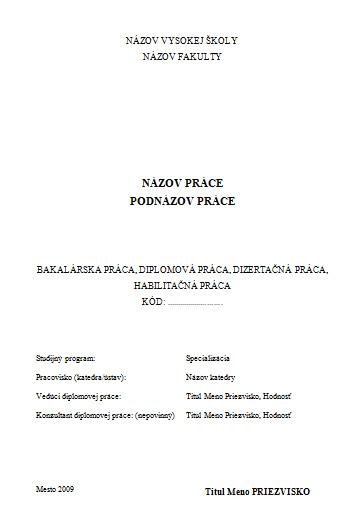 0727f685f Šablóna na písanie záverečných prác - TU Zvolen | pisanieprac.sk