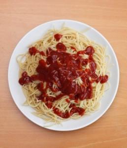 spagety s kecupom